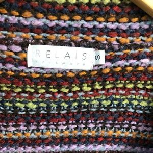 Relais Knitware Sweaters - Chunky Relais Knitwear Fringed Cardigan Small